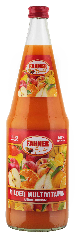 FAHNER Milder Multivitamin-Mehrfruchtsaft 6x1 l