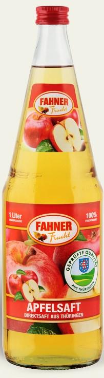 FAHNER Apfelsaft klar Direktsaft 6x1 l