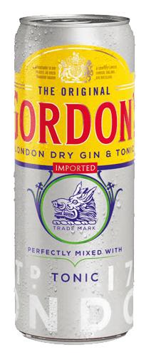 Gordon's Dry Gin & Tonic 12x0,33 l Dose
