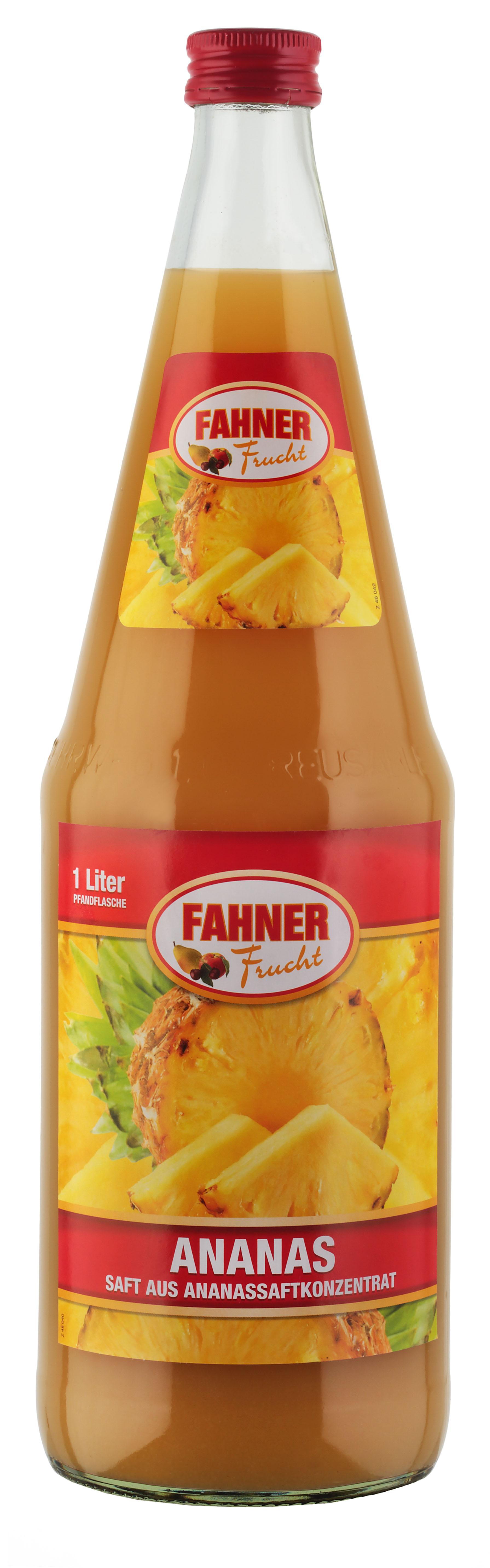 FAHNER Ananassaft 6x1 l