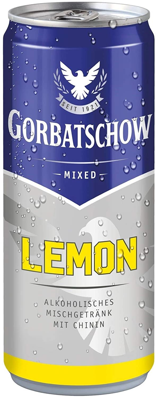 Wodka Gorbatschow Mixed Lemon 10% Vol. 12x0,33 l Dose