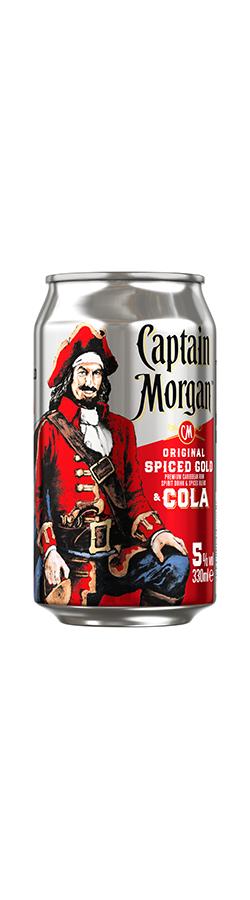 Captain Morgan Original Spiced Gold & Cola 12x0,33 Dose