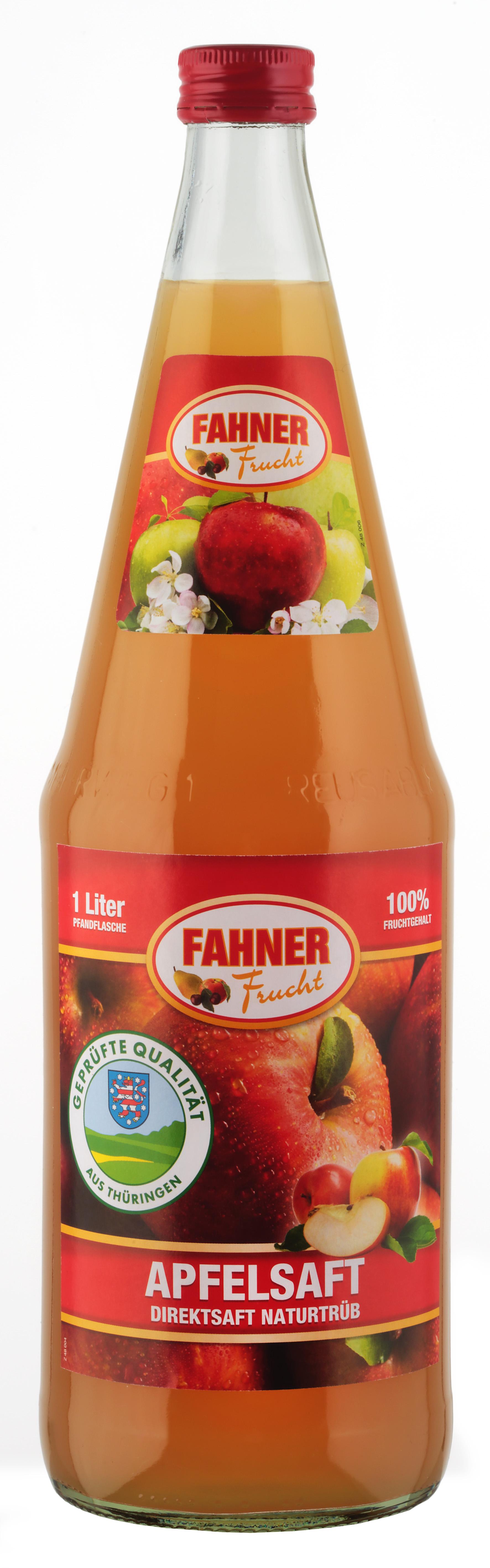 FAHNER Apfelsaft naturtrüb Direktsaft 6x1 l