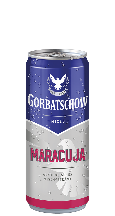 Gorbatschow Wodka & Maracuja 10% 12x0,33 l Dose