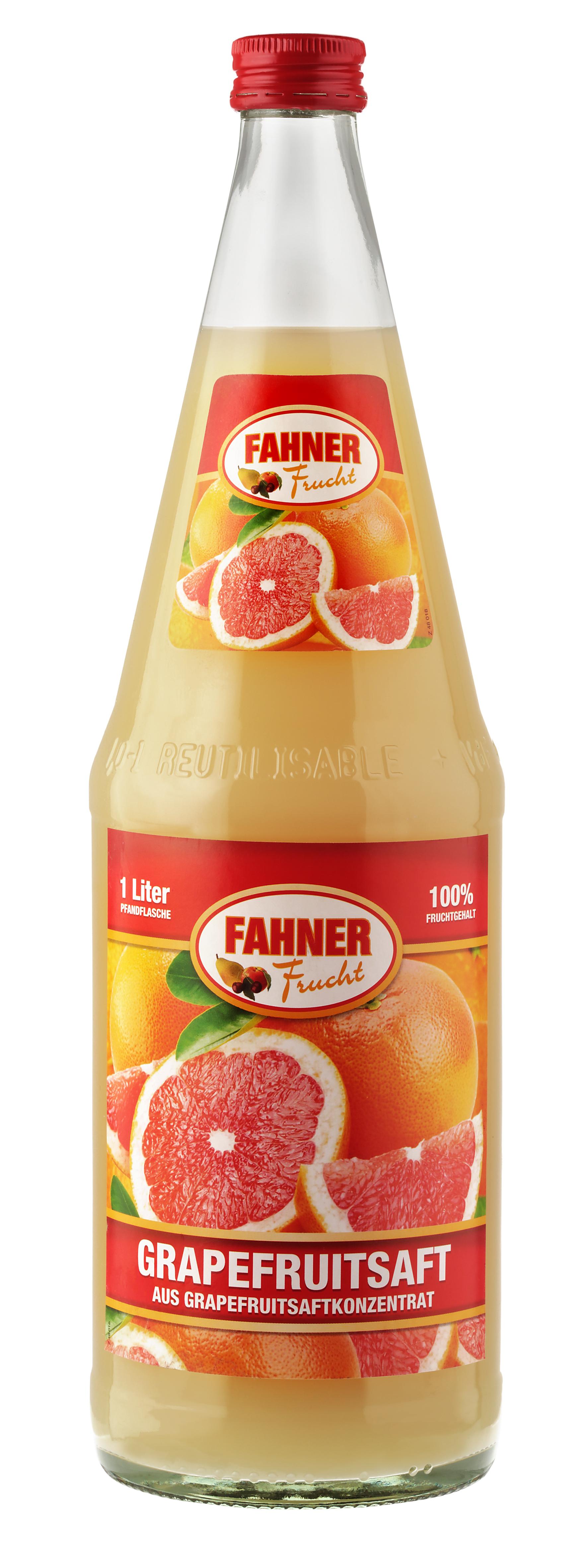 FAHNER Grapefruitsaft 6x1 l